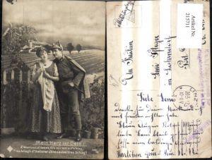 215711,K.k. Soldat Frau Mein Herz ist Dein Spruch Text