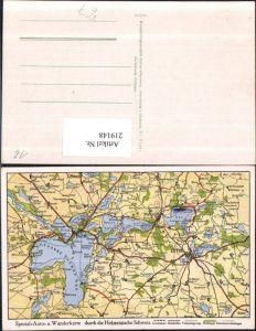 219148,Spezial-Auto u. Wanderkarte Landkarte durch d. Holsteinische Schweiz pub Julius Simonsen Oldenburg 37491