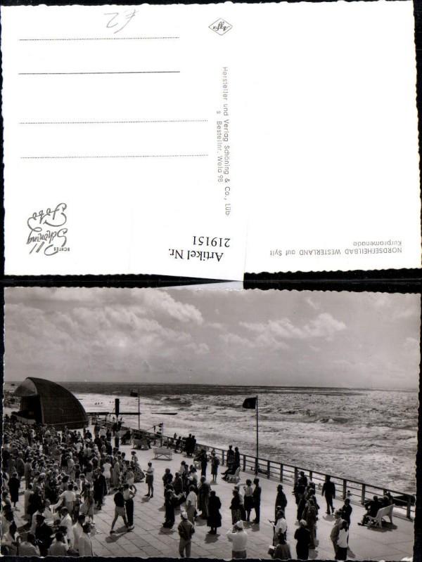 219151,Nordseebad Westerland auf Sylt Kurpromenade Strandleben