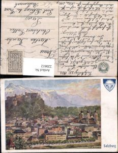 220612,Deutscher Schulverein 576 Künstler E. F. Hofecker Salzburg Teilansicht