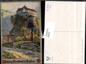 220625,Deutscher Schulverein 335 Künstler E. F. Hofecker Festung Geroldseck in Kufstein