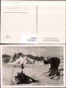 220671,Gebirgsjäger Soldat PK Schneider Überschreiten eines Gletscherbruches