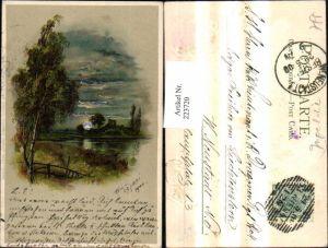 223720,Litho Mondschein Postkarte Serie 11 pub Winkler & Schorn Nürnberg