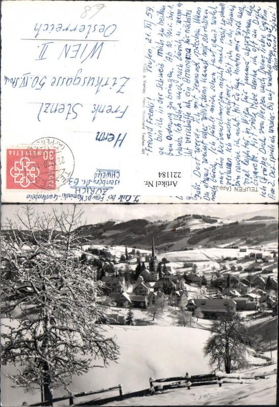 221184,Taufen Totale Winterbild Kt Appenzell