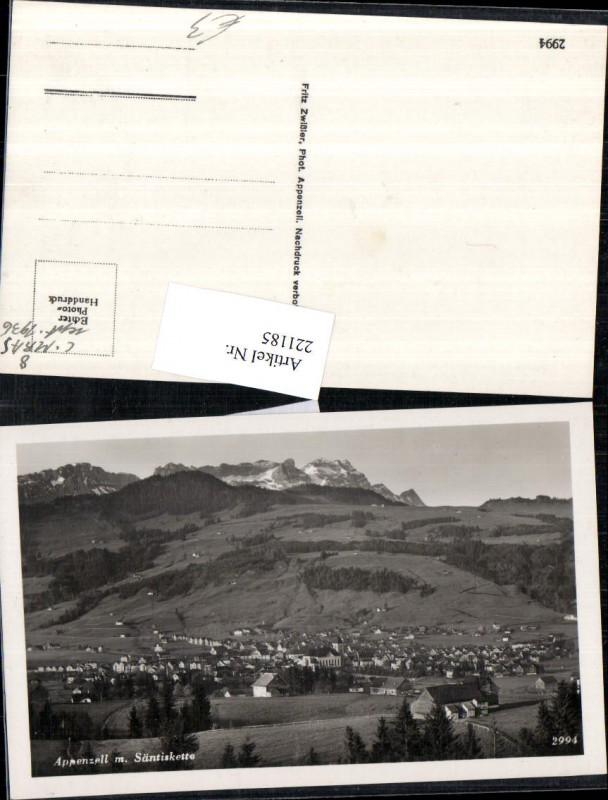 221185,Appenzell Totale m. Säntiskette