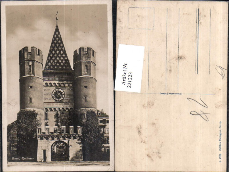 221223,Basel Spalentor Tor Turm Uhr
