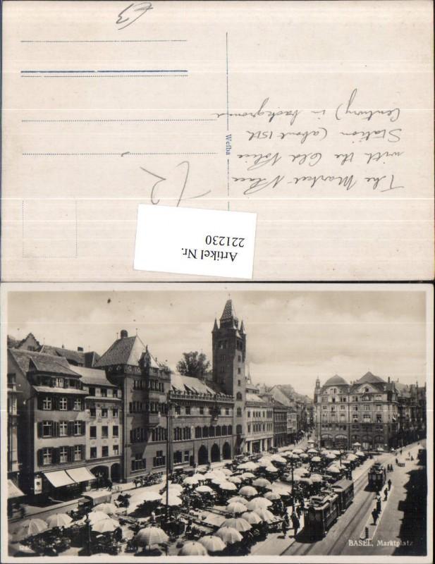 221230,Basel Marktplatz Platz Rathausturm