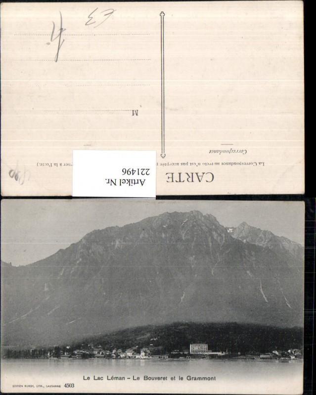 221496,Le Lac Leman Le Bouveret et le Grammont Kt Waadt