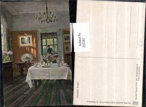 222281,Asco AK 3128 Künstler Sigvard Hansen Der Geburtstagstisch Zimmer Kronleuchter