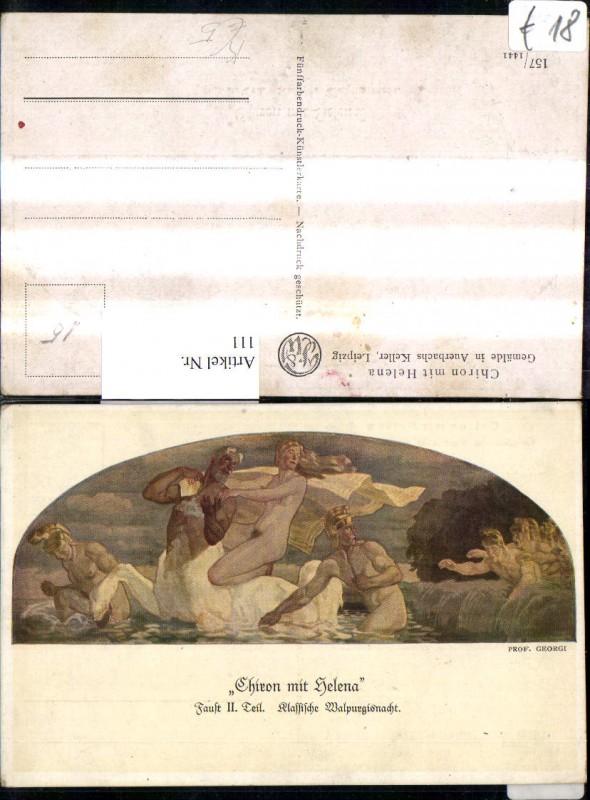 111,Künstler Ak Prof. Georgi Chiron m. Helena Gemälde i. Auerbachs Keller
