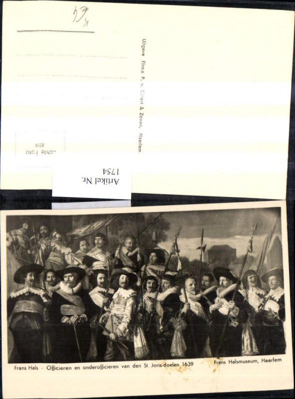 1754,Künstler Ak Frans Hals Officieren en onderoficieren van den St. Joris-doelen 1639