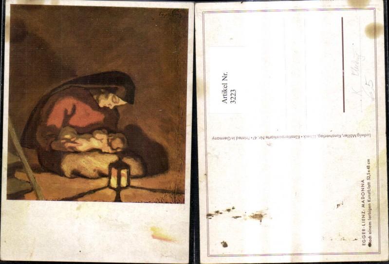 3223,Künstler Ak Egger Lienz Madonna