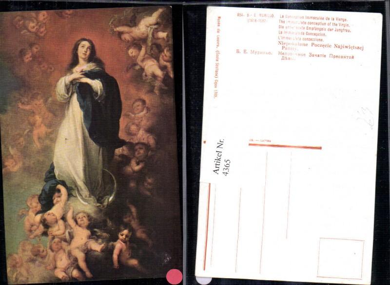 4365,Künstler Ak B. E. Murillo Die unbefleckte Empfängnis der Jungfrau