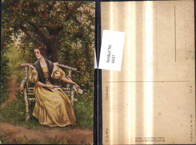 4847,Künstler Ak R. de Witt Gedenken