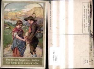 5982,Künstler Ak A. Marussig Von mein Berglein muß i scheiden pub Verlag für das Deutschtum im Ausland