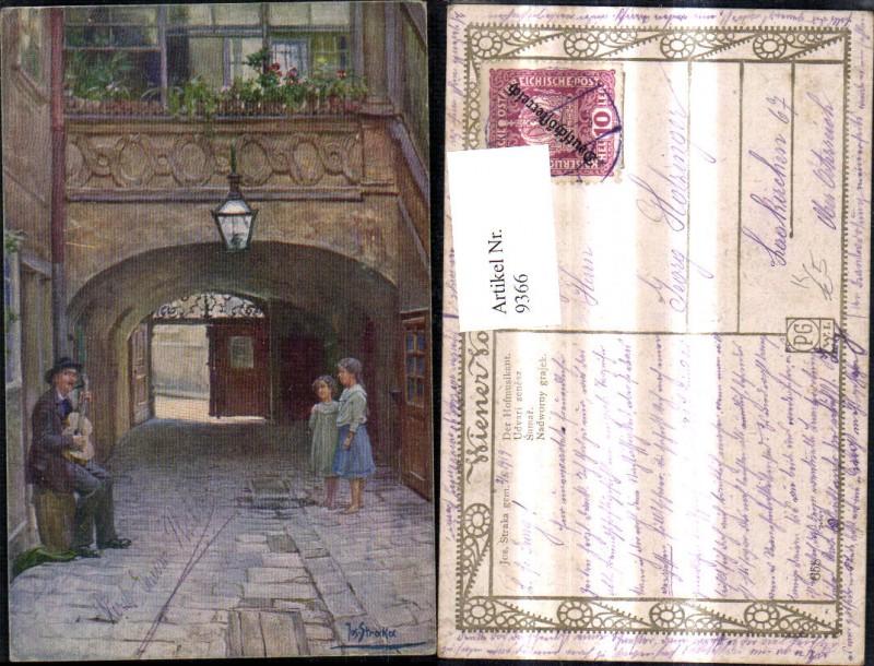 9366,Künstler Ak Jos. Straka Der Hofmusikant