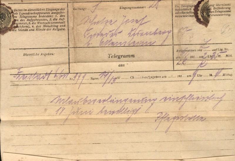 23458,Telegramm Freistadt n. Ottensheim 1 Auflage 1916 0