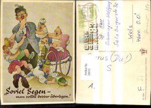 24213,Scherz Humor Mann m. vielen Kinder Soviel Segen Spruch pub Lengauer 3266