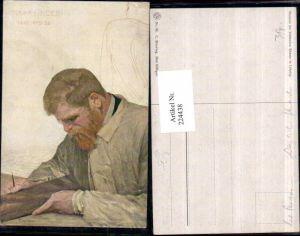 224438,Künstler AK C. Stoeving Max Klinger Mann m. Brille Portrait