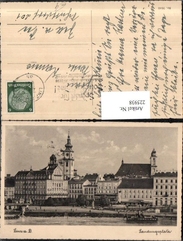 225938,Linz a. d. Donau Landungsplatz Kirche 0