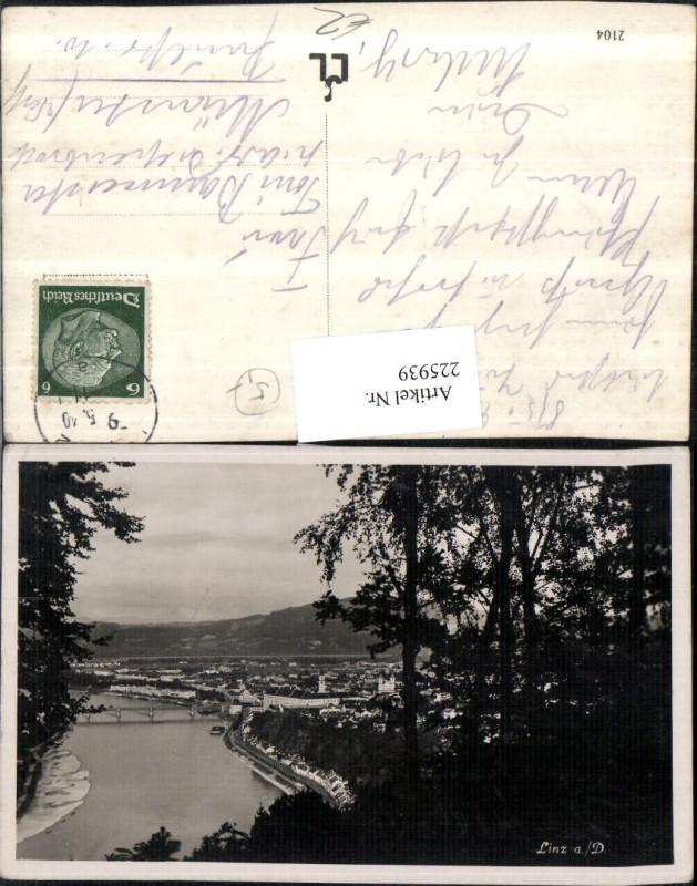 225939,Linz a. d. Donau Teilansicht Partie 0