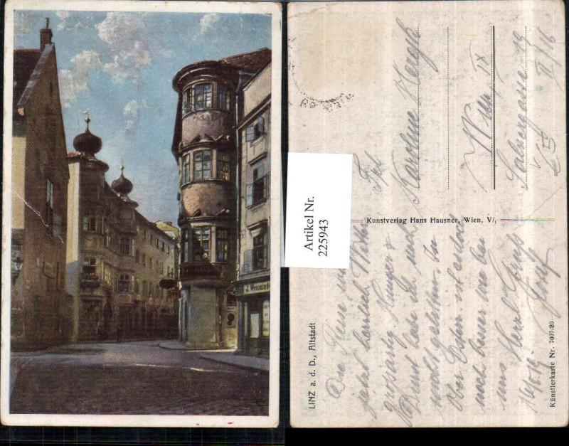 225943,Linz a. d. Donau Altstadt Straßenansicht pub Hans Hausner 7007/20 0
