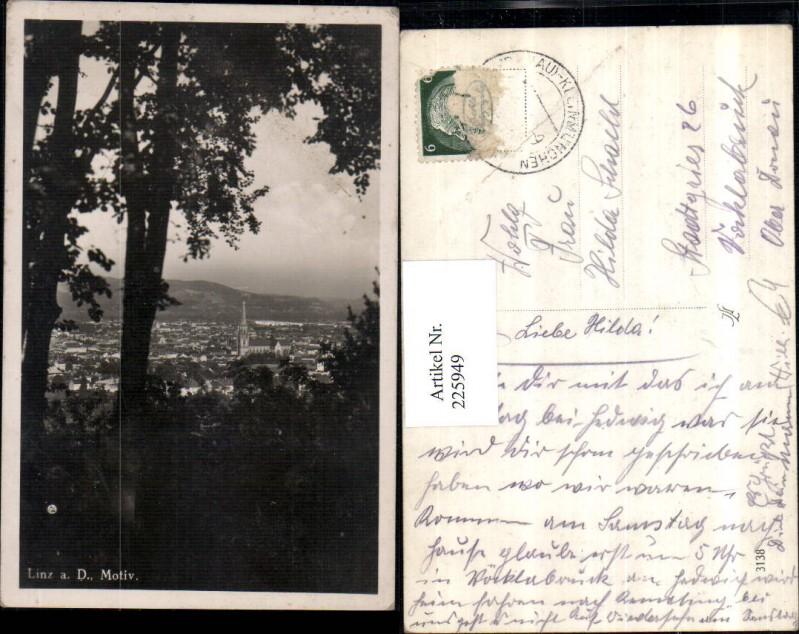 225949,Linz a. d. Donau Teilansicht Partie Motiv 0