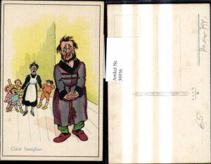 36936,Künstler Ak Scherz Humor Verzweifelter Mann Frau m. Kinder Gioie famigliari