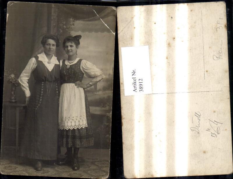 38912,Foto Ak Frauen Portrait Kleid Dirndl Tracht