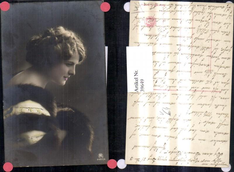 39649,Frau Portrait m. Pelzstola Stola Pelz pub RPH 2667/2 0
