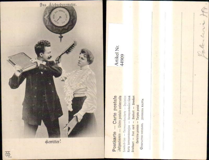 44909,Scherz Humor Frau Mann Streit Liebesbarometer a. Gewitter