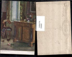 226469,Künstler AK R. Konopa Die verlorene Rose Zimmer Kommode Sessel