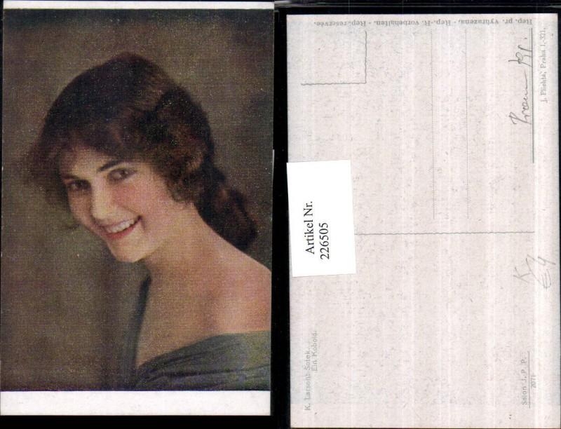 226505,Künstler AK K. Larson Ein Kobold Mädchen Portrait