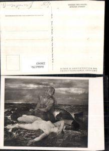 226563,Künstler AK Arnold Böcklin Triton u. Nereide Meeresgott Nymphe Akt pub Hans Andres Berlin