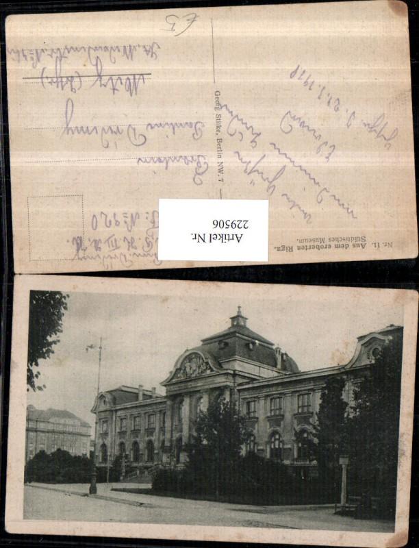229506,Riga Städtisches Museum