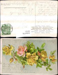 96725,Künstler Ak Catharina Klein Gelbe Rosen Blumen Zweig