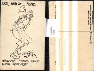 99636,Künstler Ak Rudolf Kristen Karikatur Nr 40 Der Innere Feind