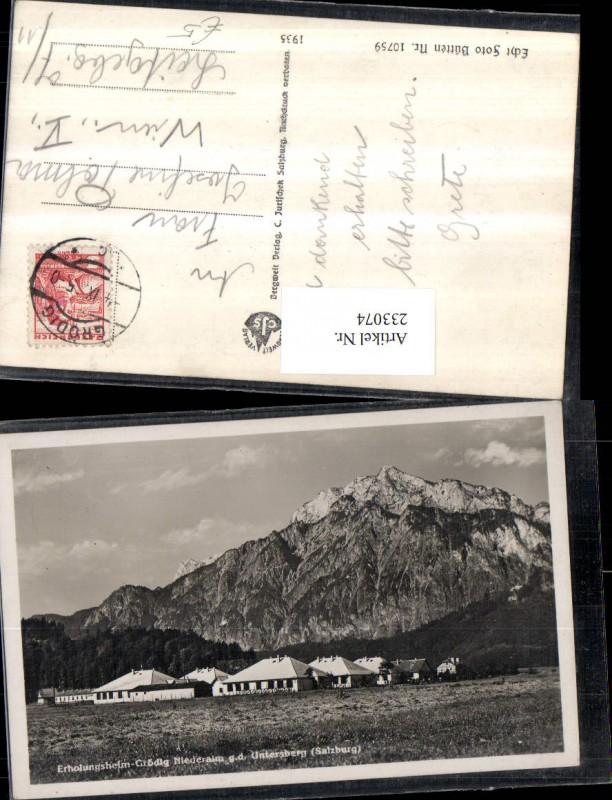 233074,Erholungsheim Grödig Niederalm geg. d. Untersberg