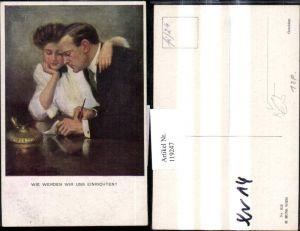 119247,M. Munk Vienne 833 Clarence F. Underwood Wie werden wir uns einrichten Liebespaar Brief