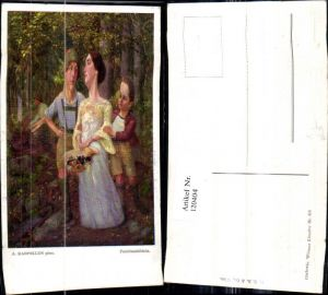 120404,Künstler Ak A. Karpellus Familienbildnis