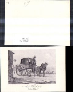 124184,Künstlerkarte Kutsche Wiener Fuhrwerk Der Fiacker Fiaker