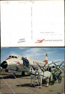 124246,Verkehrsflugzeug Flugzeug Austrian Airlines u. ein Wiener Fiaker