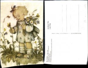 126796,Künstler Ak Hummel Blumenkind The little flower Girl