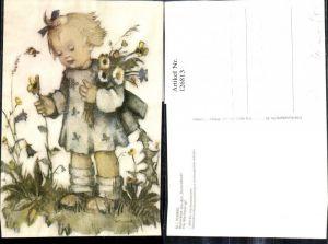 126813,Künstler Ak Hummel Blumenkind The little flower girl