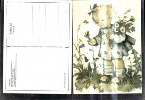 126823,Künstler Ak Hummel Blumenkind The little flower girl pub Emil Fink 691