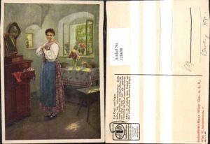 128698,Reklame Werbung Indanthren Stoffe Wien Mariahilf Karl M. Schuster