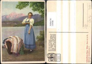 128700,Reklame Werbung Indanthren Stoffe Wien Mariahilf Karl M. Schuster