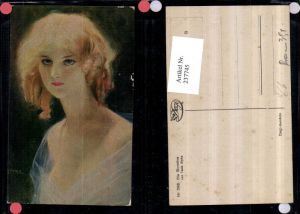 237745,Degi AK 568 Künstler Tade Styka Die Blondine Frau Portrait