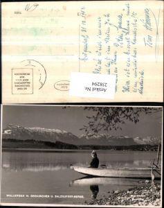 238294,Wallersee See m. Seekirchen u. Salzburger-Berge Partie Ruderboot