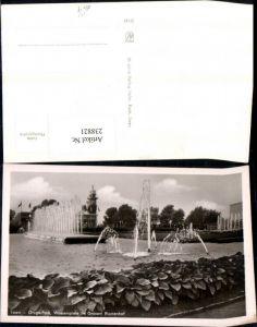 238821,Essen Gruga-Park Wasserspiele im Großen Blumenhof Springbrunnen